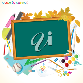 Back To School Background with Copyspace
