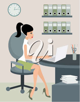 Royalty Free Clipart Image of a Secretary