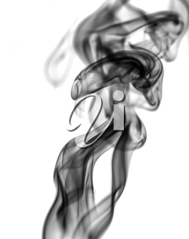 beautiful smoke on white background