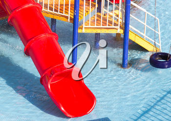 slides in the water park