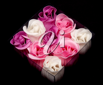 Royalty Free Photo of Fabric Roses