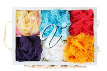 Royalty Free Photo of a Bunch of Loofahs
