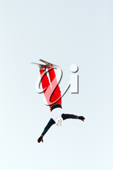 Royalty Free Photo of a Skier Doing a Flip