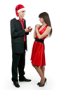 Royalty Free Photo of a Man Proposing to a Woman