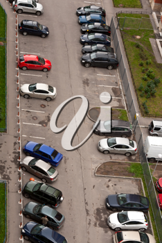 Royalty Free Photo of a Parking Lot