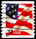 Royalty Free Photo of 2002 US Flag Stamp
