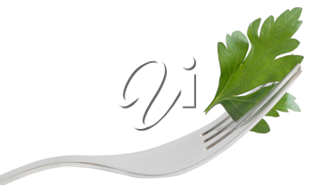 Royalty Free Photo of Parsley on a Fork