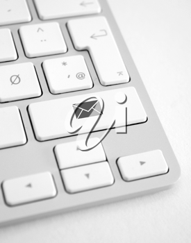 Royalty Free Photo of an Email Shortcut on a Keyboard