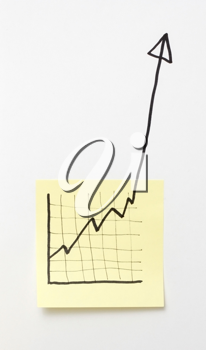 Royalty Free Photo of a Graph on a Note