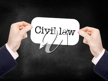 Civil law written on a speechbubble