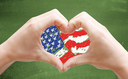 Love USA with hands