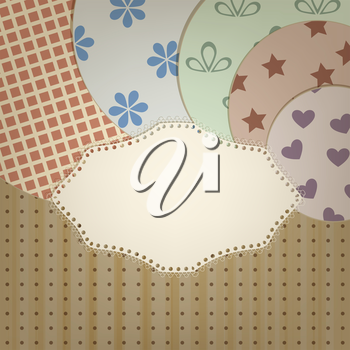 Royalty Free Clipart Image of a Background of Patterns