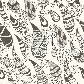 Royalty Free Clipart Image of a Background of a Paisley Pattern