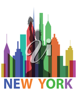 the background of new york poster fro travel design