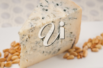 Royalty Free Photo of Gorgonzola Cheese and Pine Nuts