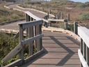 Royalty Free Photo of a Wooden Boardwalk