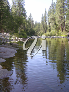 Royalty Free Photo of a River in Yosemite National Park