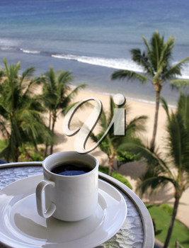 Royalty Free Photo of Morning Coffee In Paradise