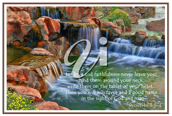Royalty Free Photo of a Garden of Eden With a Quote