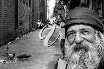 Royalty Free Photo of a Homeless Man
