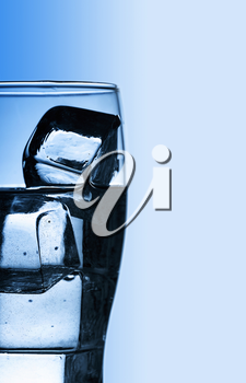 Royalty Free Clipart Image of a Glass of Ice Water