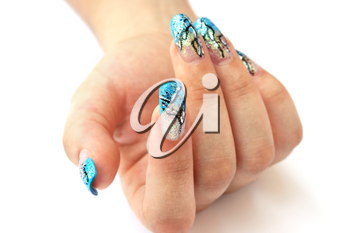 Royalty Free Photo of a Woman With Beautiful Nails