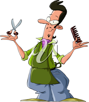 Royalty Free Clipart Image of a Hairdresser