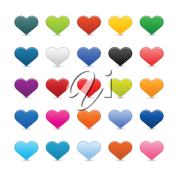 Royalty Free Clipart Image of a Bunch of Hearts
