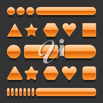 Royalty Free Clipart Image of a Set of Computer Icons