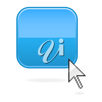 Royalty Free Clipart Image of a Computer Icon and Cursor