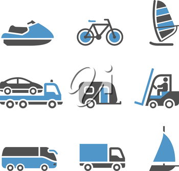 Transport pictograms - A set of third