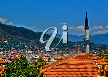 Alanya landscape, Turkey. With clipping paths