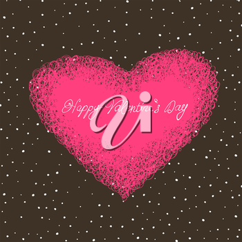 Valentine`s card with space for text.