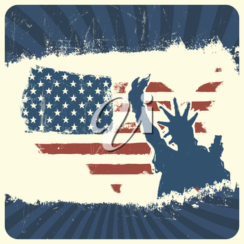 Patriotic background. Vector, EPS10