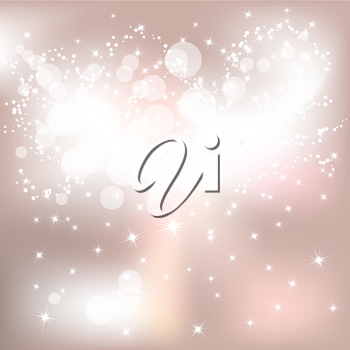 Abstract light Christmas background with white snowflakes
