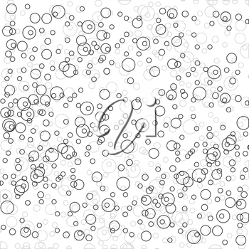 Royalty Free Clipart Image of a Seamless Bubble Pattern