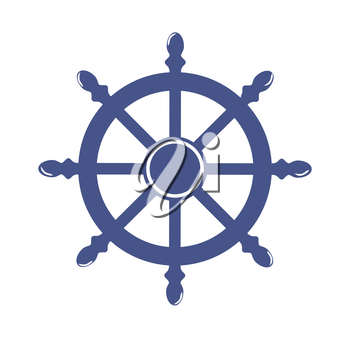 Royalty Free Clipart Image of a Ship's Wheel