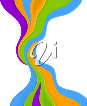 Vector illustration of Color abstract on white background