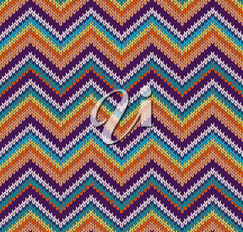 Style Seamless Knitted Pattern