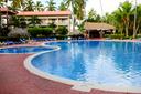 Swimming pool and accommodation at tropical resort