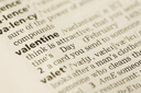 Image of word of Valentine in the text of book