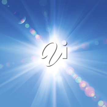 Royalty Free Photo of Sunlight Against a Blue Sky