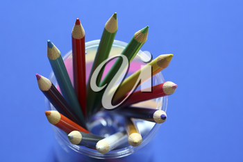 Bunch of pencil colors, showing variety