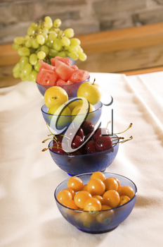 Fruits at breakfast for healthy eating and nutrition