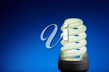 energy concept on blue background, selective focus