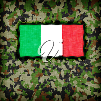 Amy camouflage uniform with flag on it, Italy