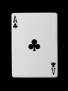 Playing card (ace) isolated on a black background