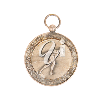 50 Year old medal isolated on a white background