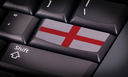 Flag on button keyboard, flag of England