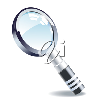 Realistic vector magnifying glass . Vector illustration